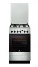 Aragaz Electrolux EKG51154OX, Gaz, 4 Arzatoare, Aprindere integrata plita/cuptor, Grill, Rotisor, 50 cm, Inox